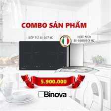 Combo máy hút mùi Binova BI-6688ISO-07 và bếp từ Binova BI-307-ID