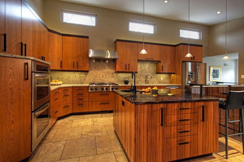 Tủ bếp gỗ sồi mỹ SM0008