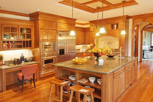 Tủ bếp gỗ sồi mỹ SM0009