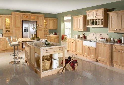 Tủ bếp gỗ sồi mỹ SM0007