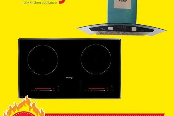 Combo máy hút mùi Canzy và bếp từ/ điện từ Canzy