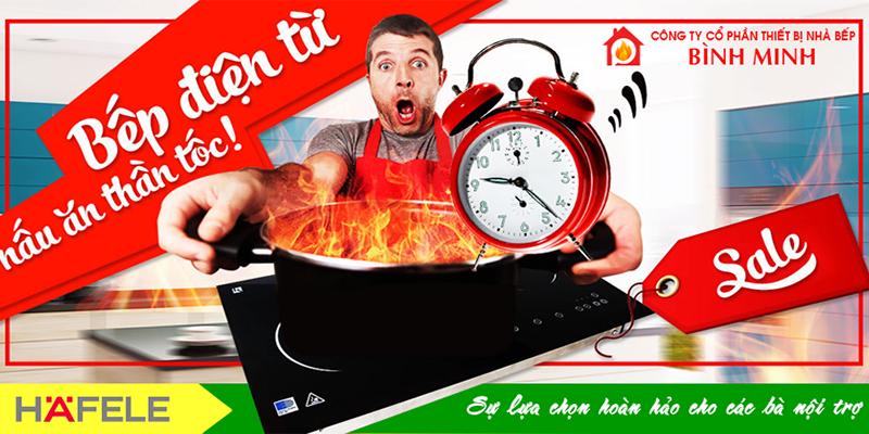 Bếp điện từ<br>nấu ăn thần tốc